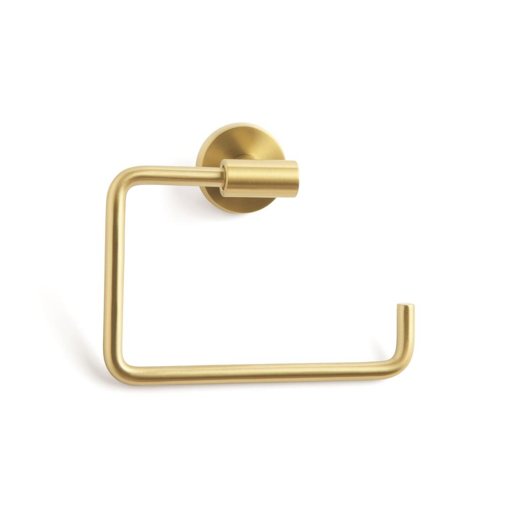 Amerock Arrondi Towel Ring in Brushed Bronze/Golden Champagne