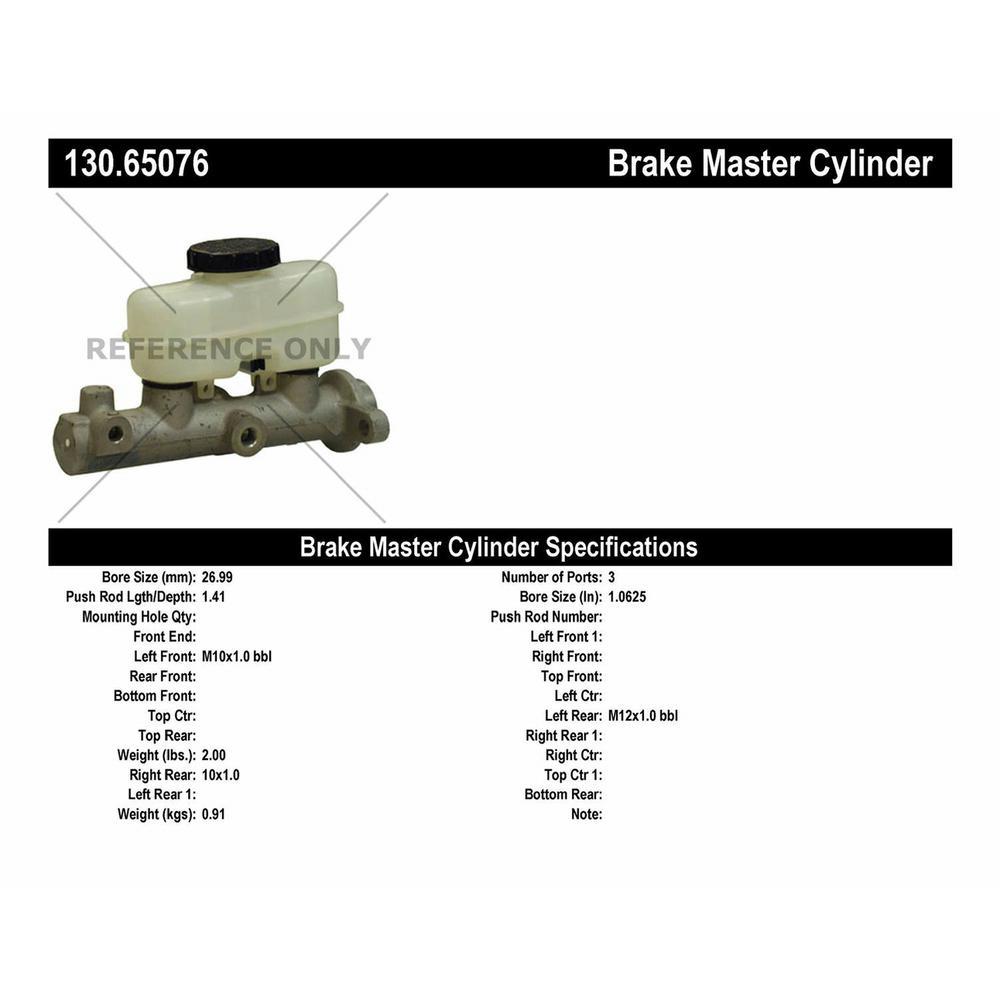 Preferred Centric 130.65076 Brake Master Cylinder-Premium Master Cylinder