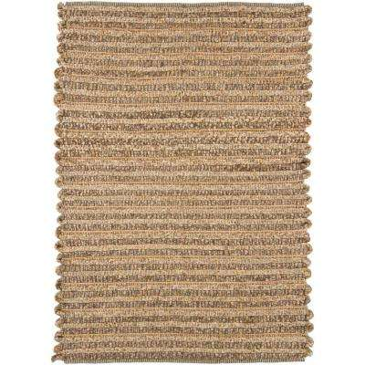 Zola Tan/Charcoal 8 ft. x 11 ft. Indoor Area Rug