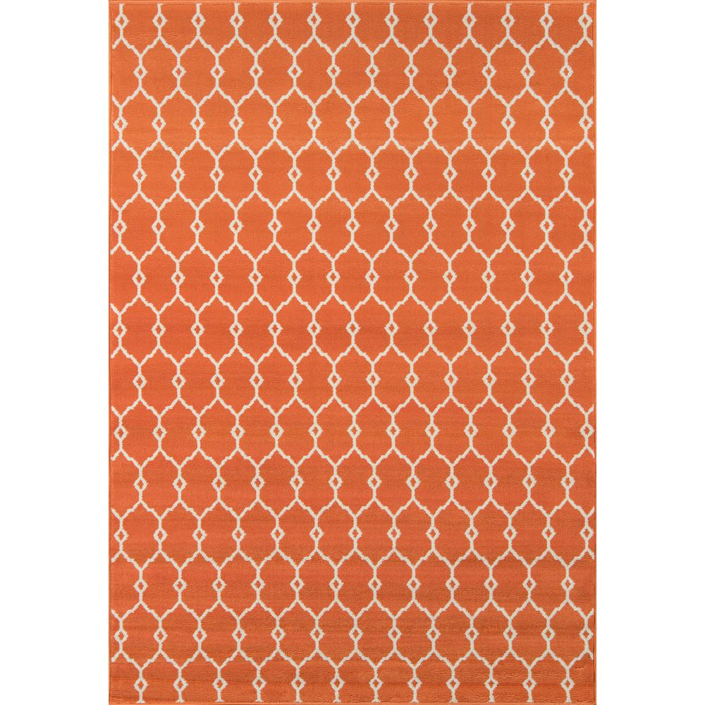 Baja Orange 5 ft. x 8 ft. Indoor/Outdoor Area Rug