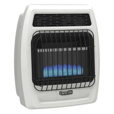 10,000 BTU Liquid Propane Blue Flame Vent Free Thermostatic Wall Heater