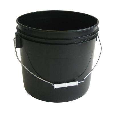 3.5 gal. Black Pail (10-Pack)