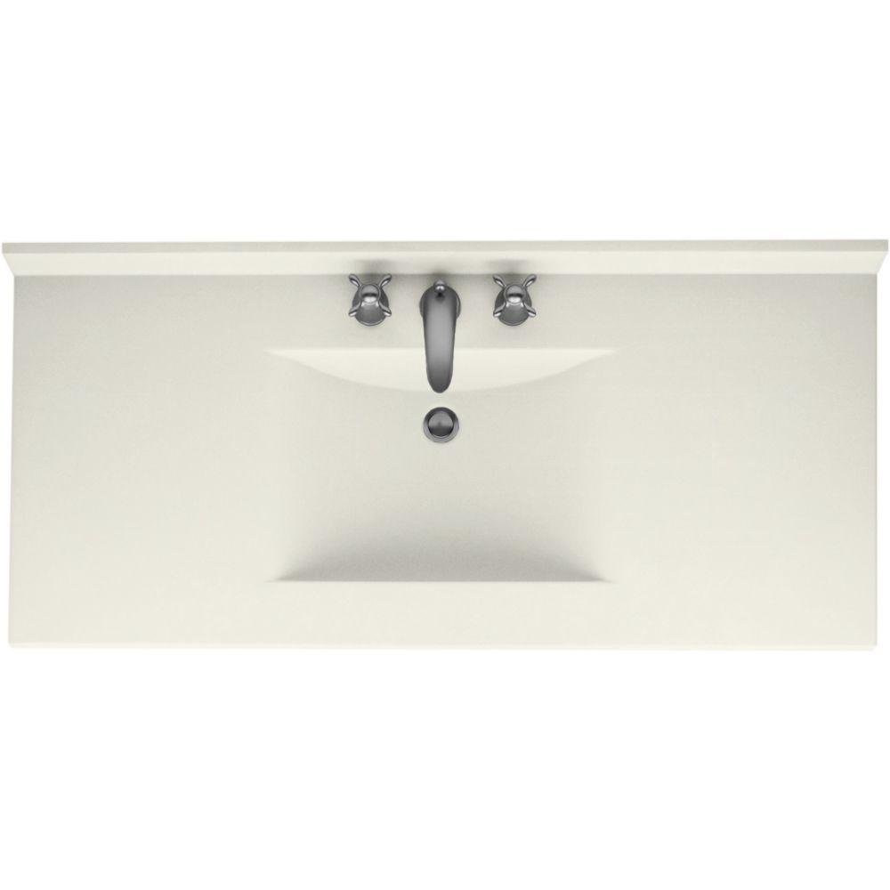 Swanstone Contour 43 In Solid Surface Vanity Top With Basin In Bisque Cv2243 018 The Home Depot