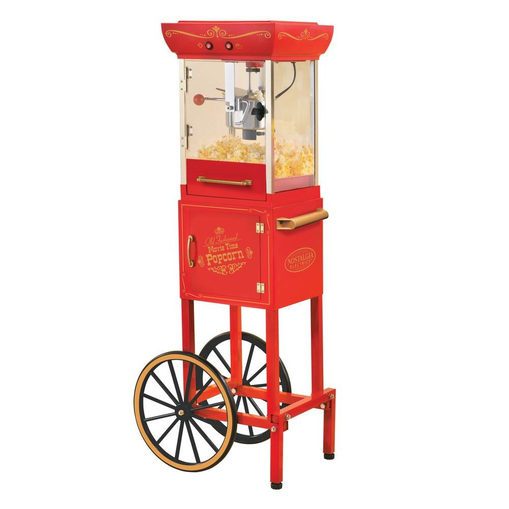 Nostalgia Electrics Vintage Collection 48 in. Old Fashioned Movie Time Popcorn Cart-DISCONTINUED