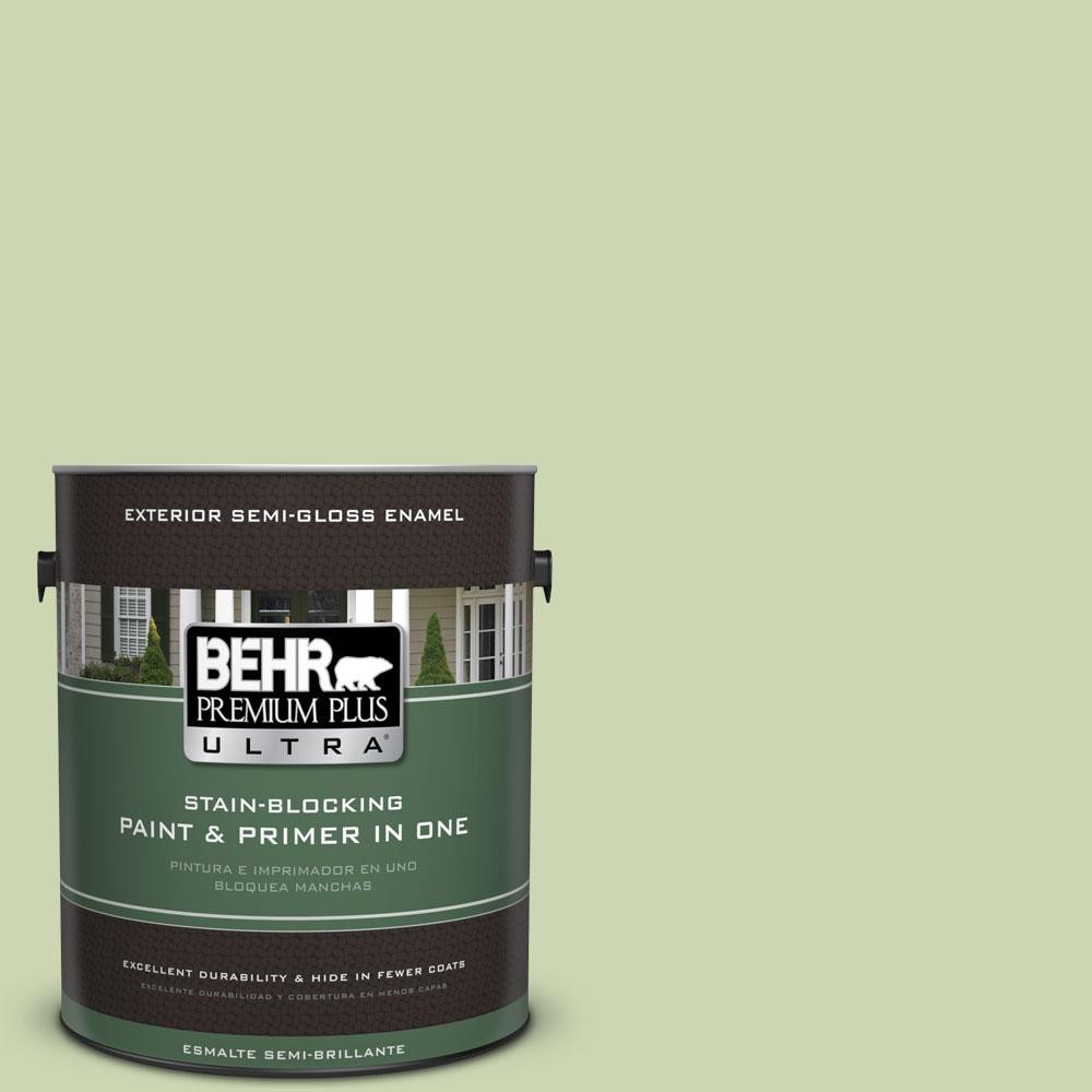 BEHR Premium Plus Ultra 1-gal. #M360-3 Avocado Whip Semi-Gloss Enamel Exterior Paint