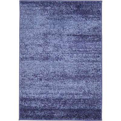 Del Mar Lucille Navy Blue 2' 2 x 3' 0 Area Rug