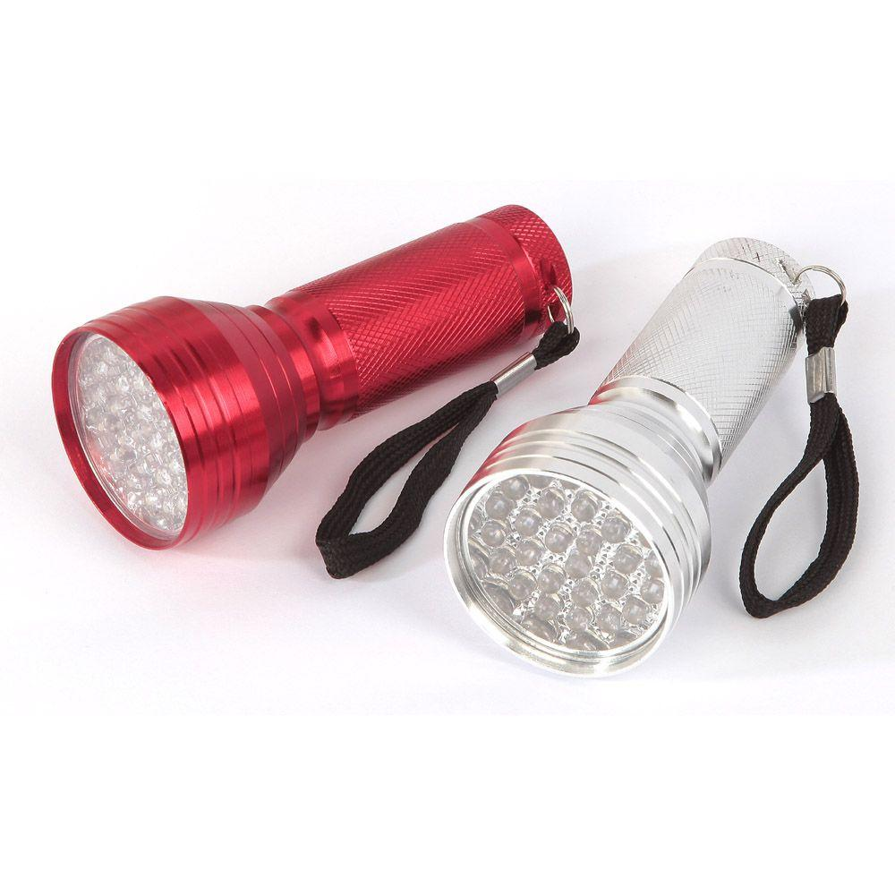 null 28-LED Red and White Aluminum Flashlights (2-Pack)-DISCONTINUED