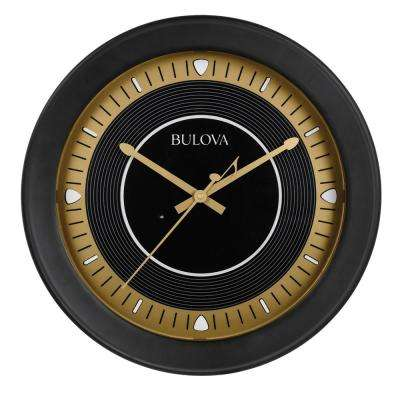 16.5 in. H x 16.5 in. W Round Wall Clock with Bluetooth Technology