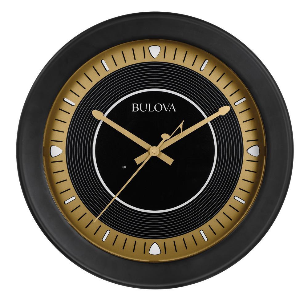 Bulova 16.5 in. H x 16.5 in. W Round Wall Clock