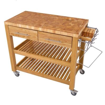 Pro Chef Natural Kitchen Cart with Chop and Drop System