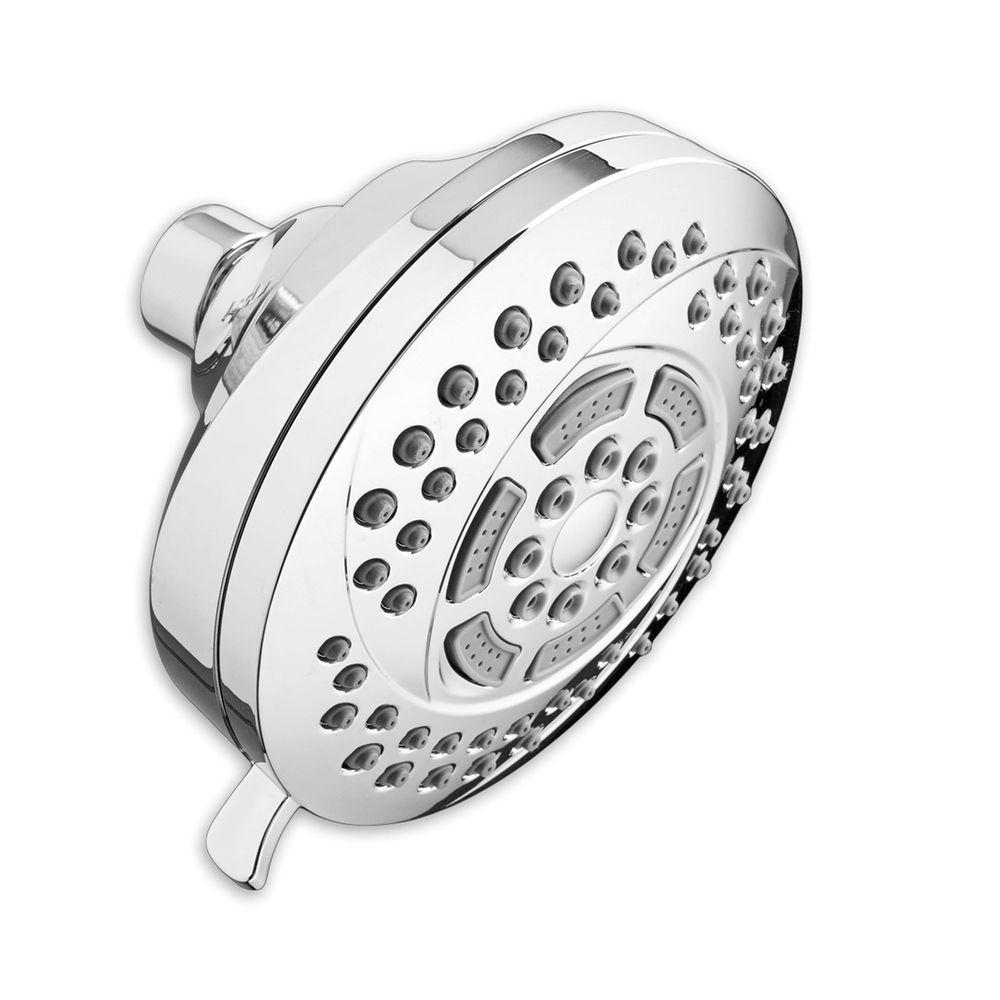 Hydrofocus 6-Spray 4.5 in. Raincan Showerhead in Polished Chrome