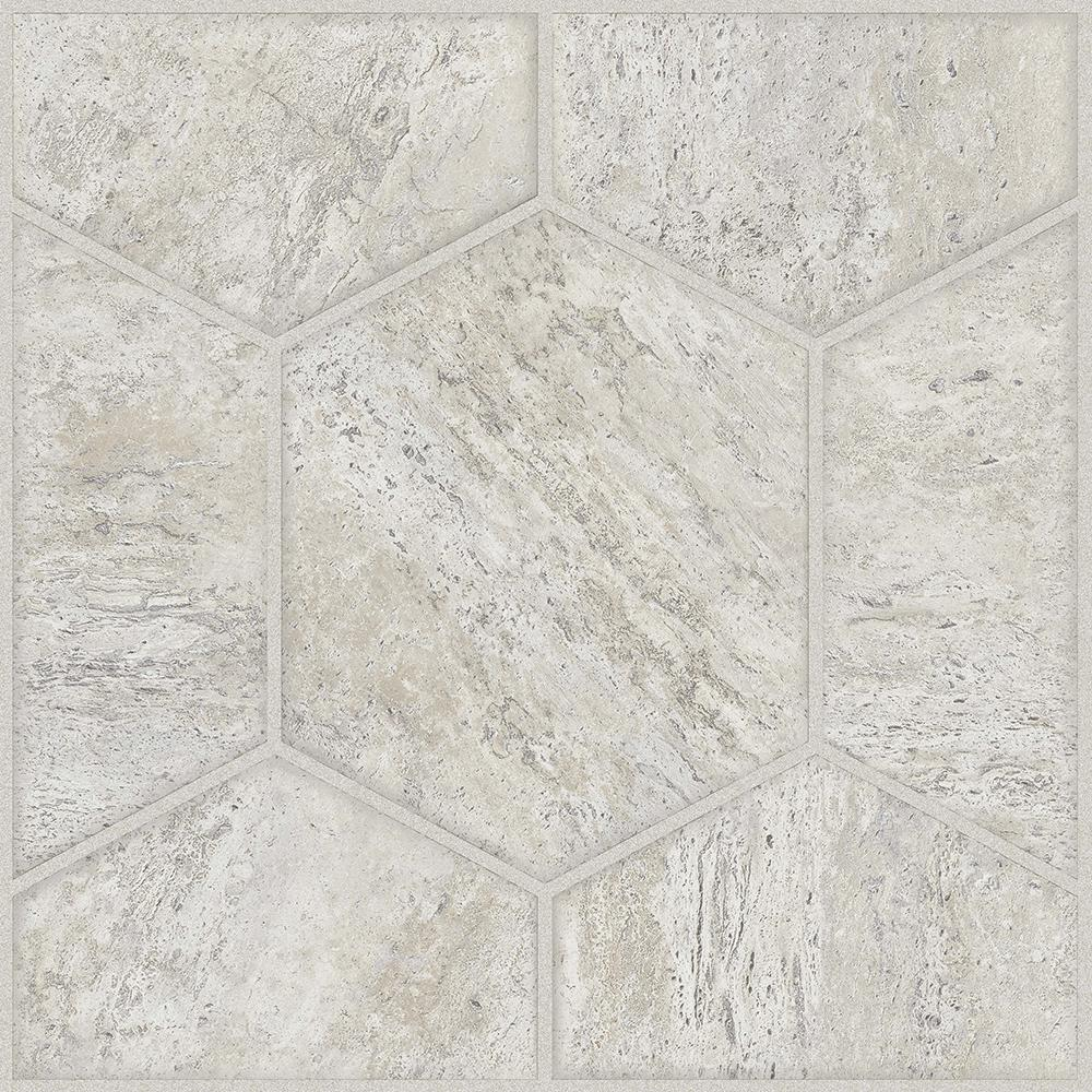 Trafficmaster take home sample grey marble peel and for Peel and stick tile