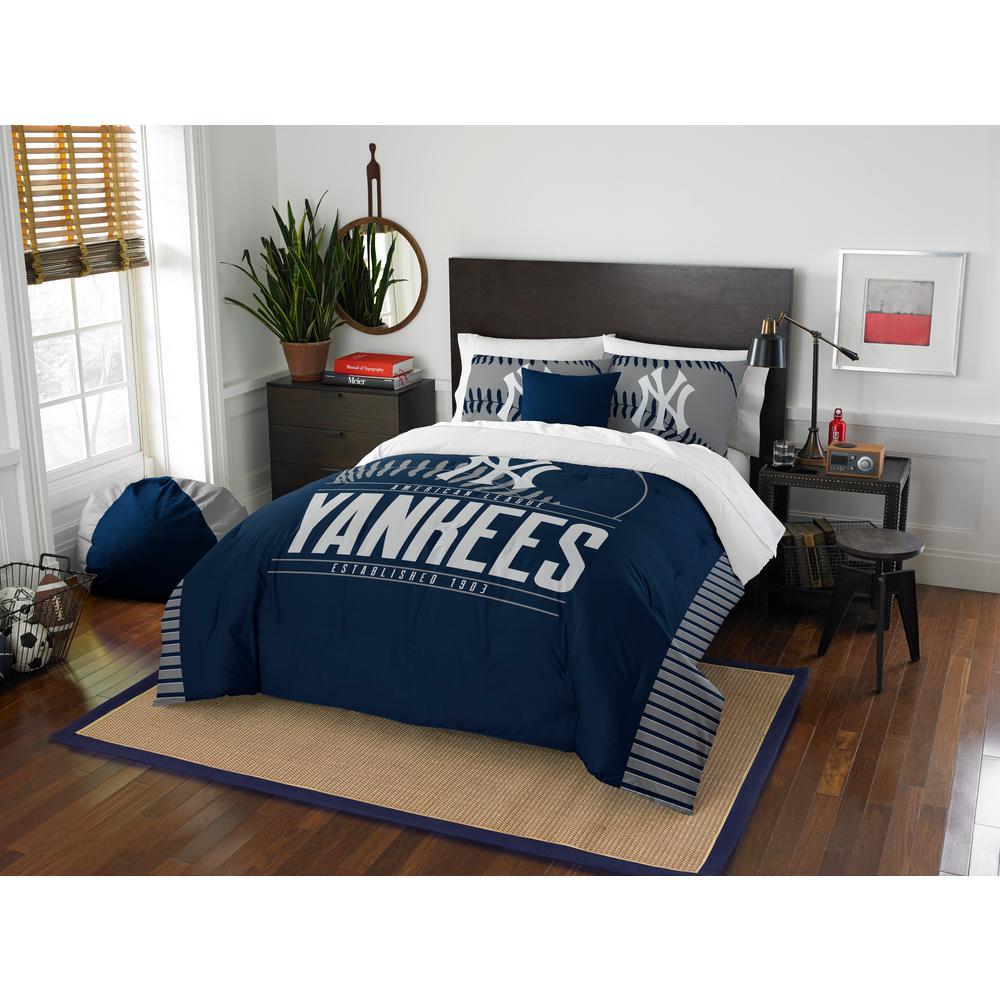 Yankees 3 piece Grandslam Full and Queen Comforter Set ...