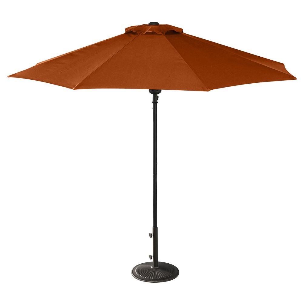 Cabo Auto-Open 9 ft. Octagonal Market Patio Umbrella in Terra Cotta Olefin