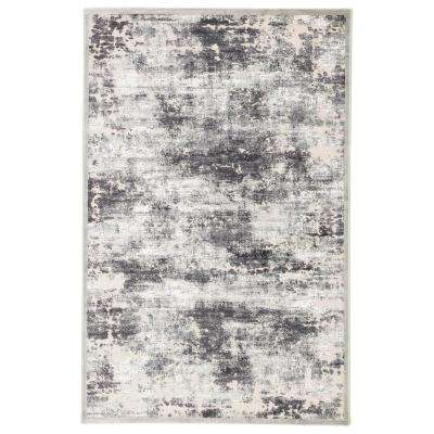 Fables Gray 8 ft. 10 In. x 11 ft. 9 In. Abstract Rectangle Rug