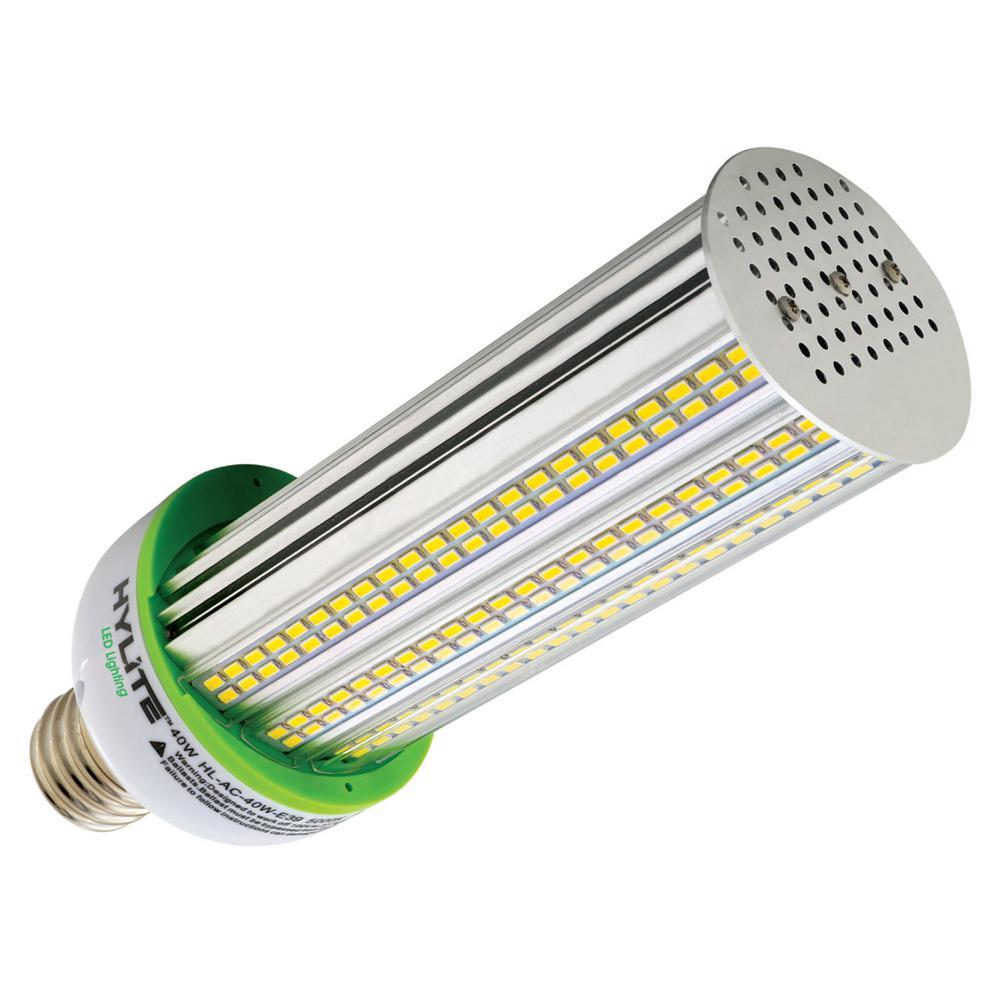 40W Arc-Cob LED Lamp 250W HID Equiv 5000K 7316 lumens Ballast Bypass 120V-277V E39 Base IP 65 UL & DLC Listed (1-Bulb)