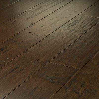 Take Home Sample - Western Hickory Saddle Click Hardwood Flooring - 5 in. x 8 in.