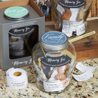 Top Shelf Clear Glass Family Memory Jar