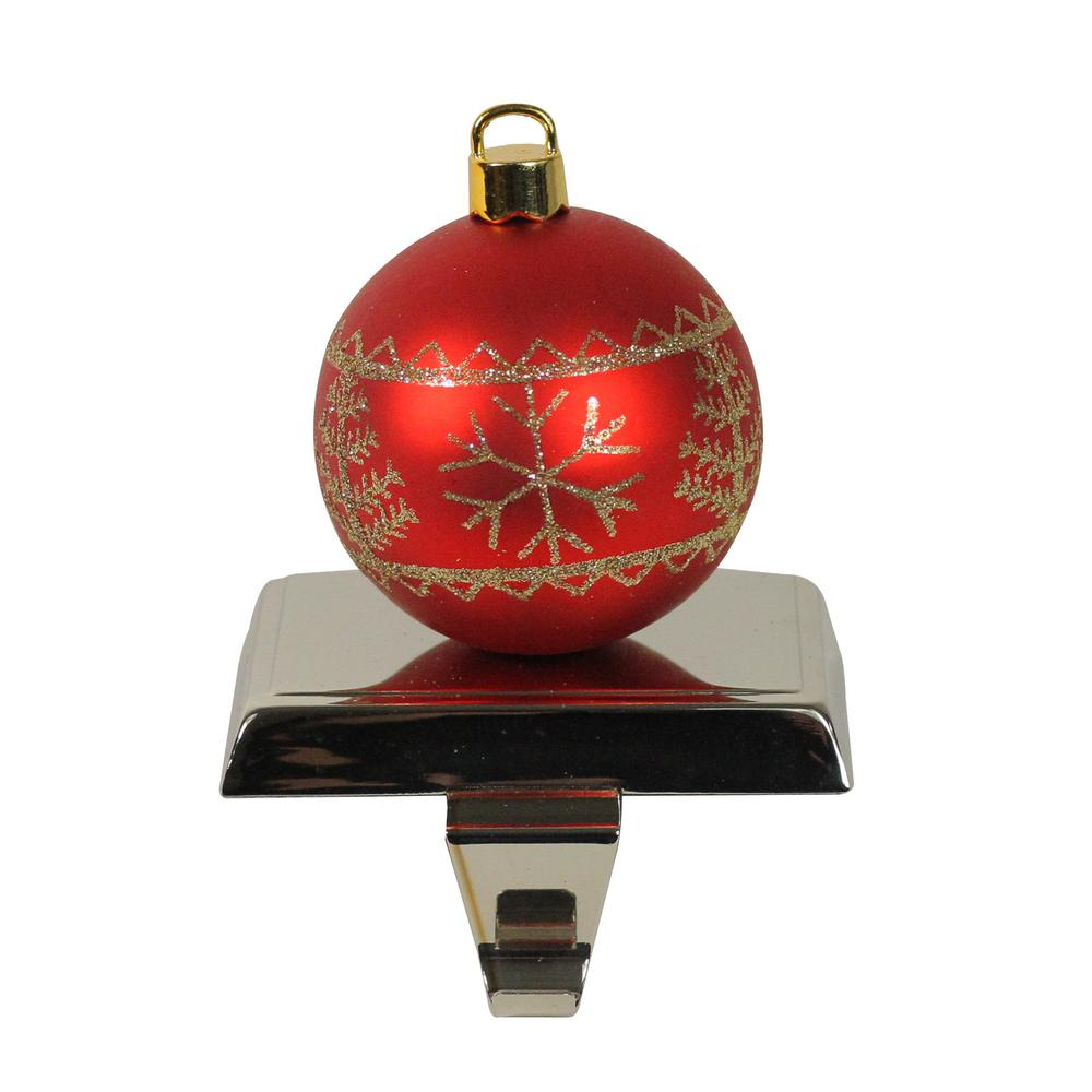 Northlight 5.5 In. Red And Gold Christmas Ball Ornament