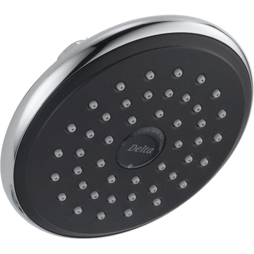 Delta HydroRain 2-in-1 5-Spray 7-7/8 in. Fixed Shower Head in ...
