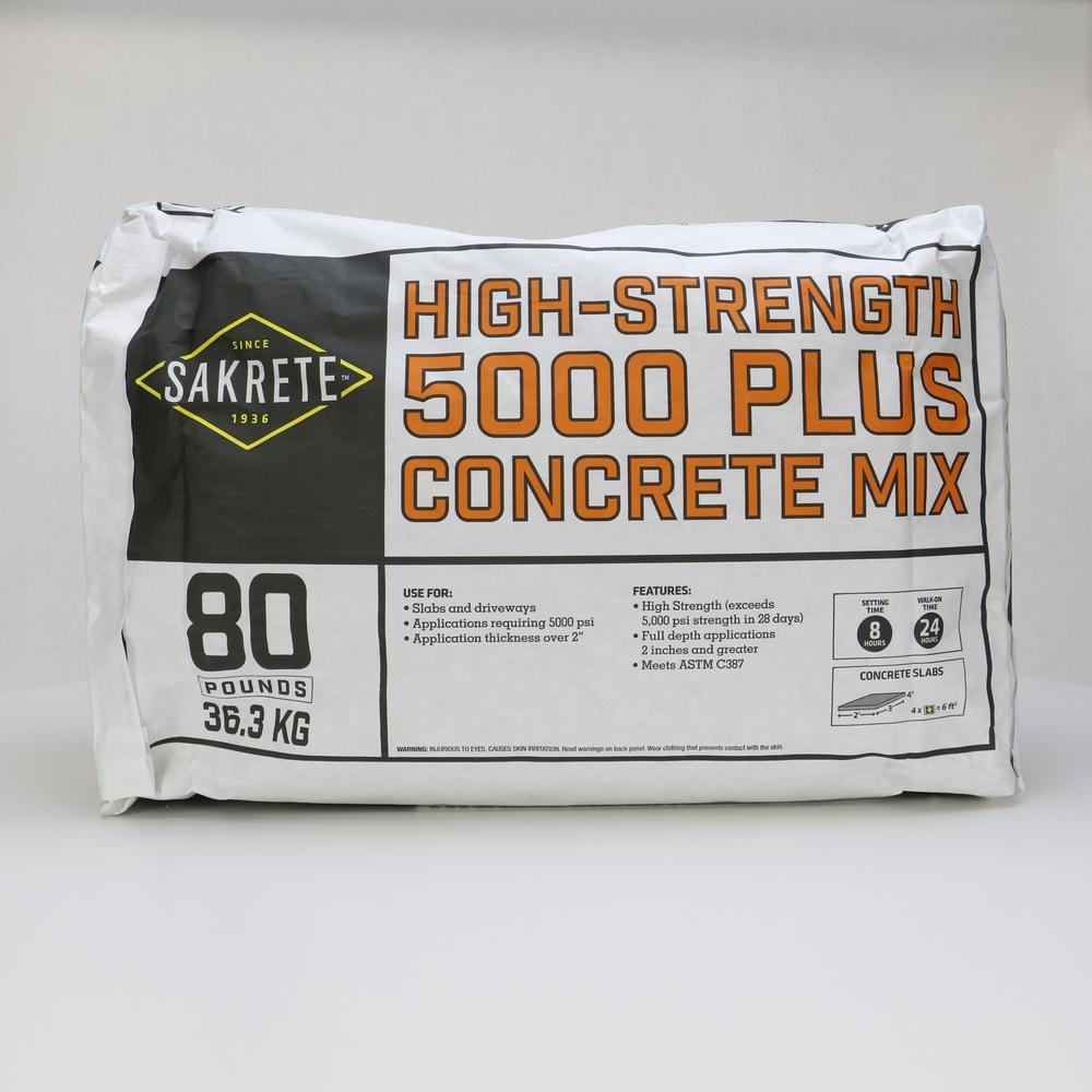 SAKRETE 5000 Plus 80 lb. Concrete Mix