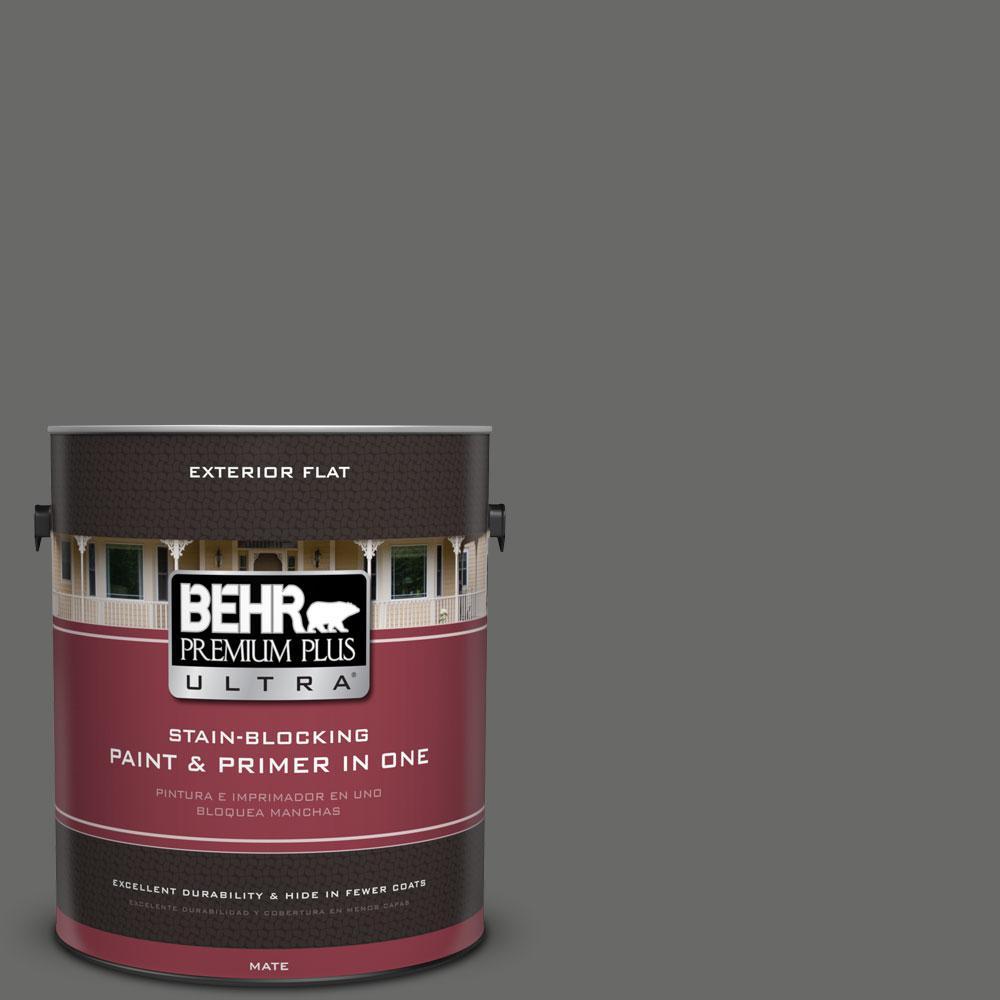 BEHR Premium Plus Ultra 1-gal. #BXC-63 Molten Lead Flat Exterior Paint
