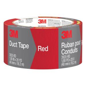 3M 1.88 inch x 20 yds. Red Duct Tape (Case of 12) by 3M