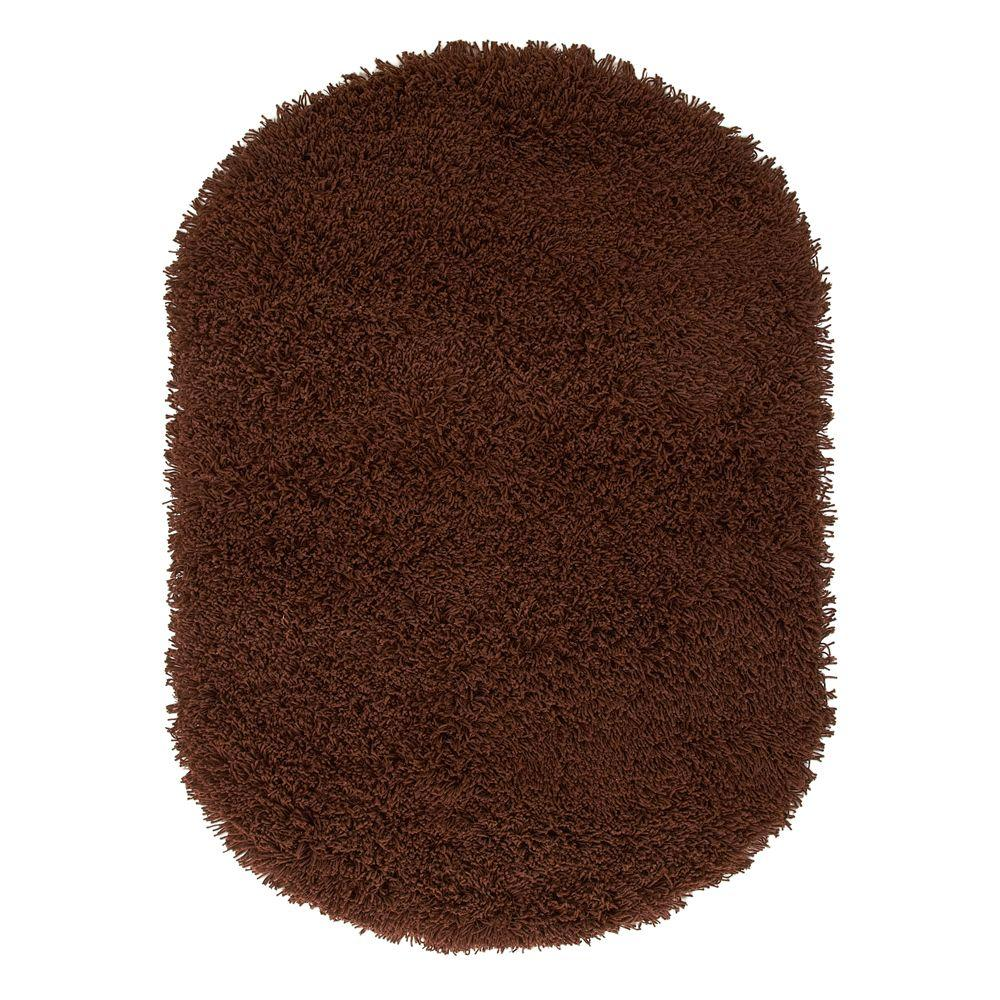 Ultimate Shag Brown 5 ft. x 7 ft. Oval Area Rug