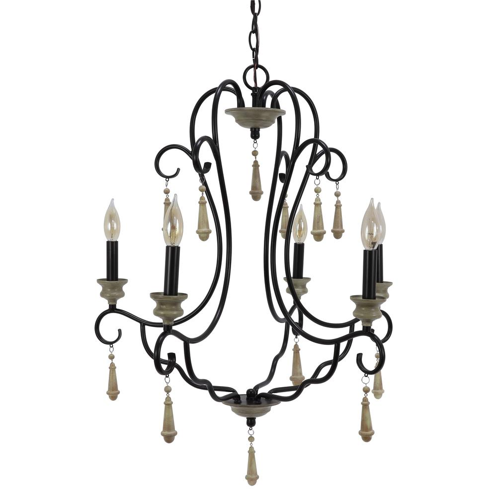 Decor Therapy Blakely 5-Light Bronze Chandelier