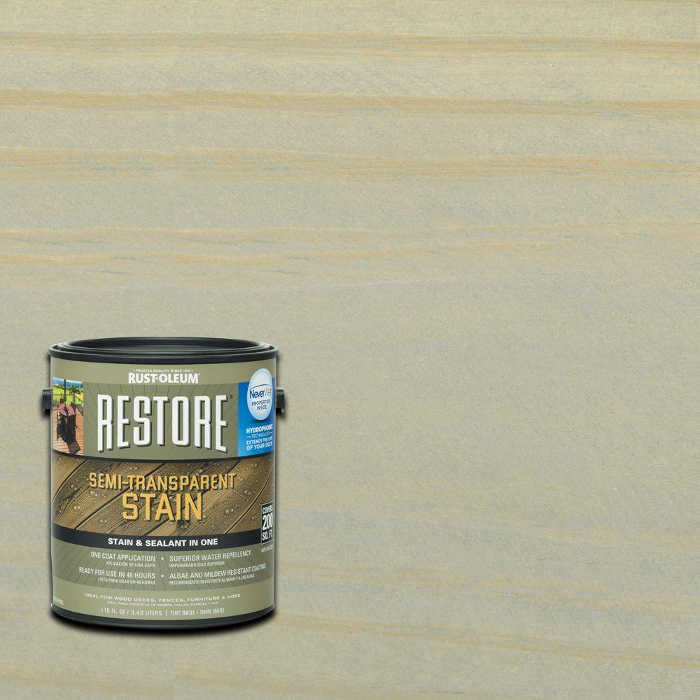 Rust-Oleum Restore 1 gal. Semi-Transparent Stain Graywash with ...