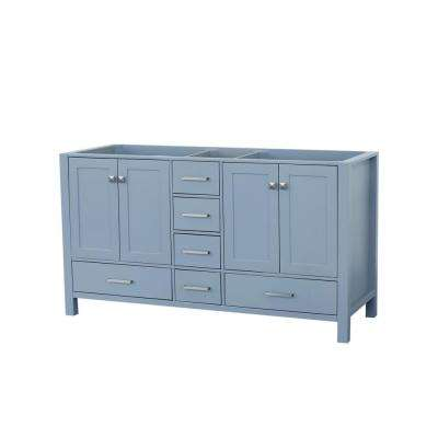 Cambridge 60 in. W Vanity Cabinet Only in Grey