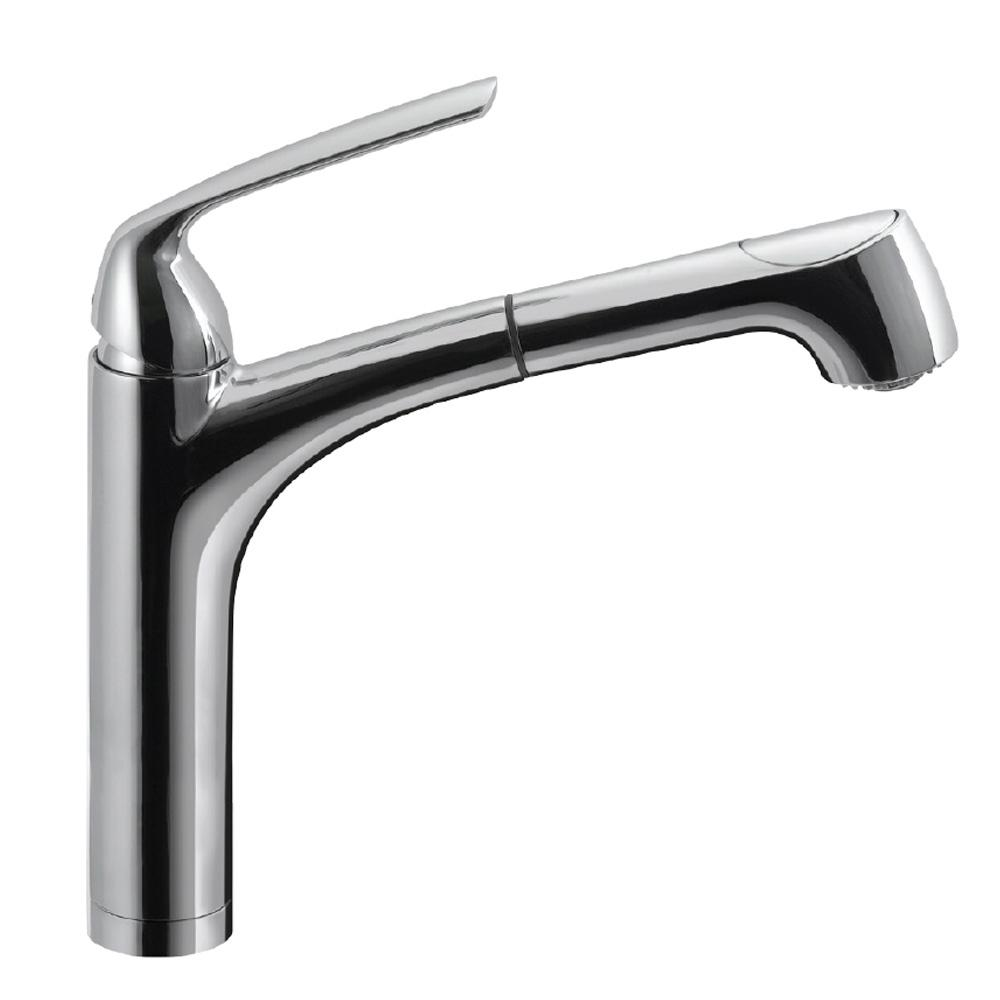 HOUZER Calia Single-Handle Pull Out Sprayer Kitchen Faucet with ...