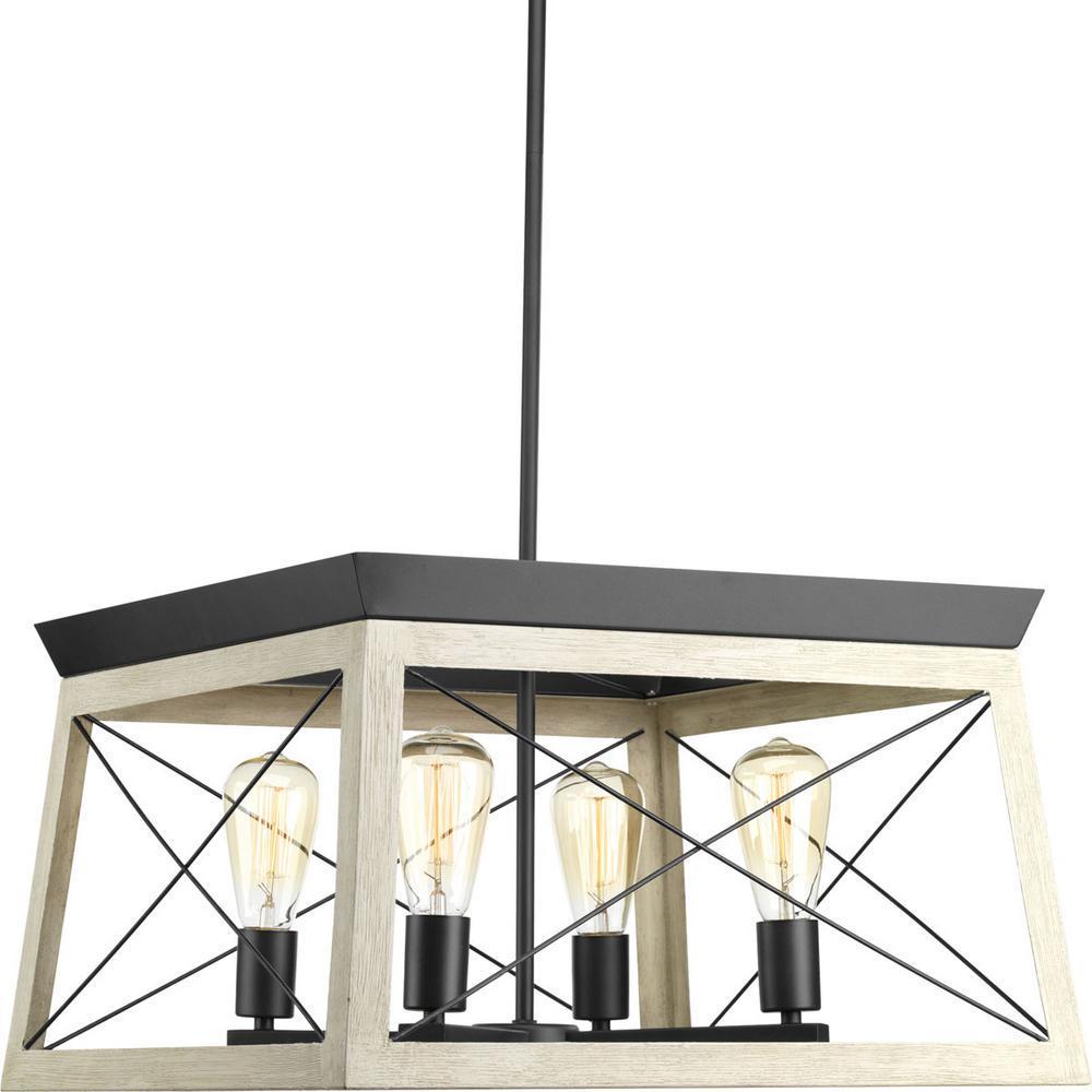 Progress lighting briarwood 20 in 4 light graphite chandelier 4 light graphite chandelier aloadofball Gallery