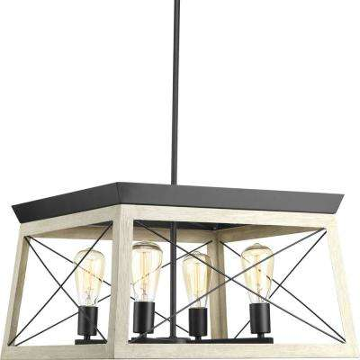 Briarwood 20 in. 4-Light Graphite Chandelier