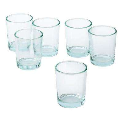 Clear Glass Round Votive Candle Holders (Set of 36)