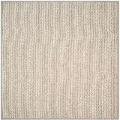 Natural Fiber Gray 6 ft. x 6 ft. Square Area Rug
