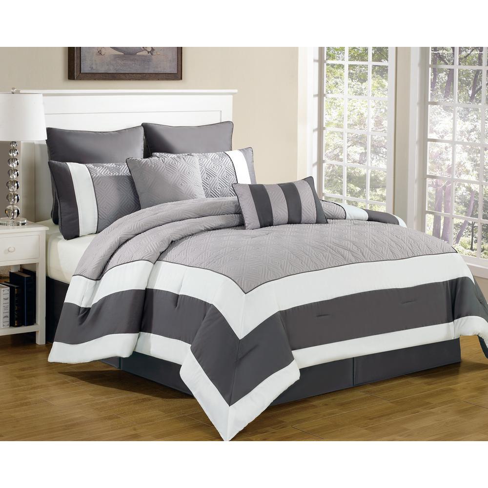 Spain Sandstone-Smoke 8-Piece King Comforter Set