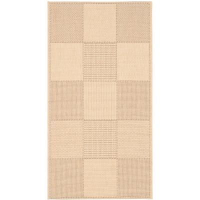 Courtyard Natural/Brown 3 ft. x 5 ft. Indoor/Outdoor Area Rug
