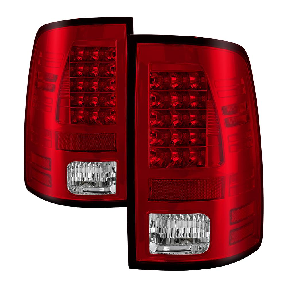 Dodge Ram 1500 09 18 2500 3500 10 Led Tail Lights Not Compatible With Model Red Clear