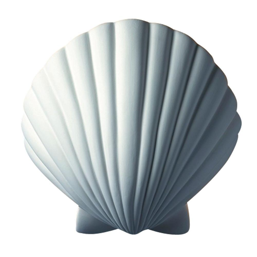 Filament Design Leonidas 1-Light Paintable Ceramic Bisque Scallop Shell Sconce