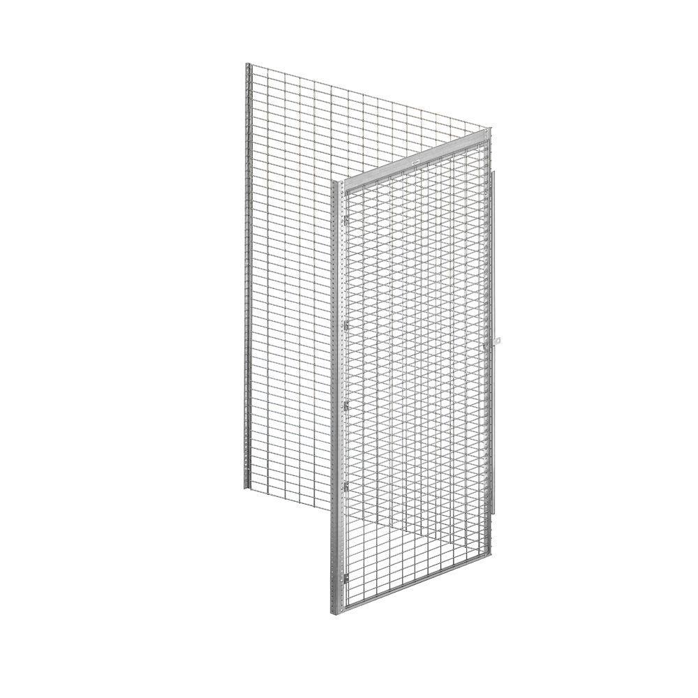 Salsbury Industries 8100 Series 36 in. W x 90 in. H x 48 in. D 1-Tier Bulk Storage Locker Add-On in Aluminum