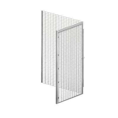 8100 Series 36 in. W x 90 in. H x 48 in. D 1-Tier Bulk Storage Locker Add-On in Aluminum