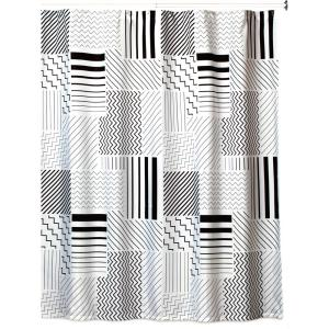 Creative Bath Modern Angles 72 inch x 72 inch Black/White/Grey Polyester Shower Curtain by Creative Bath