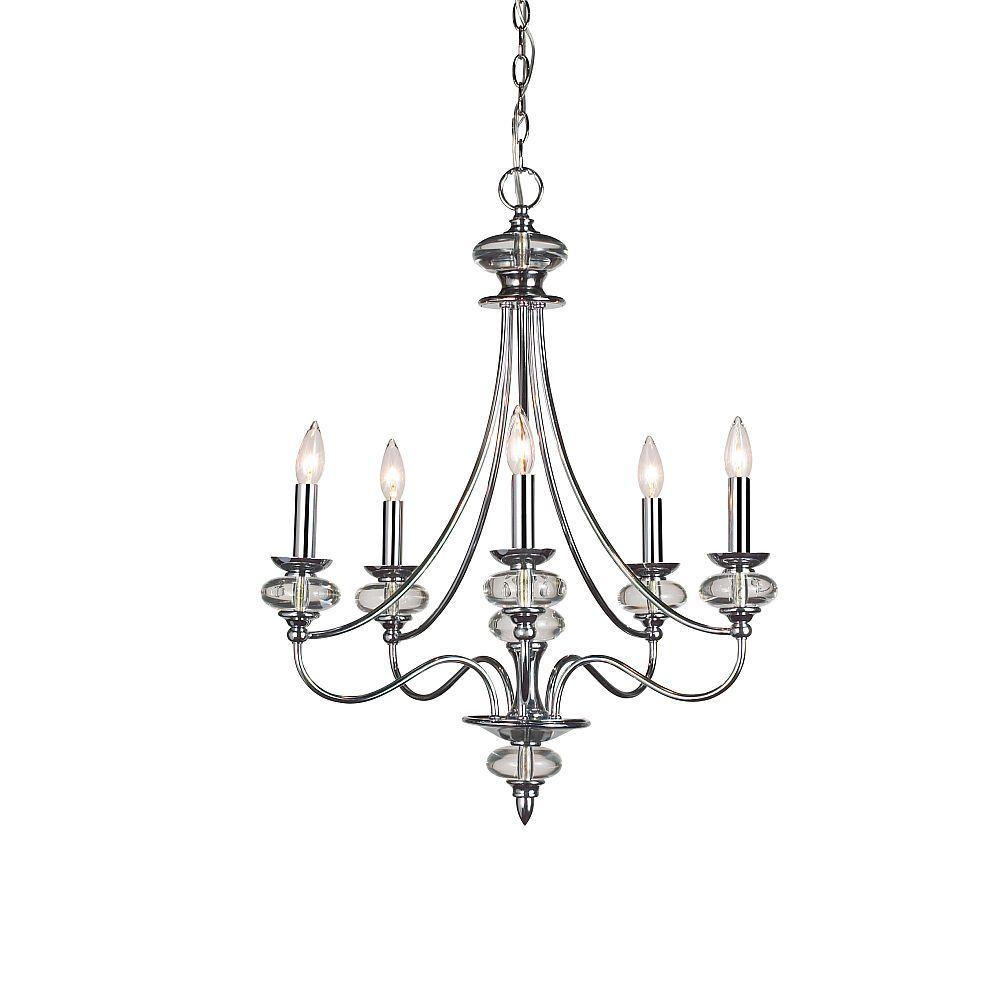 Home Decorators Collection Nottinghill Collection 5-Light Chrome Chandelier
