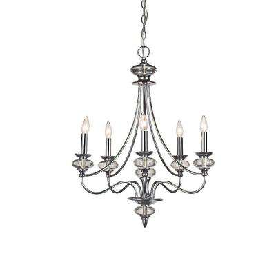 Nottinghill Collection 5-Light Chrome Chandelier