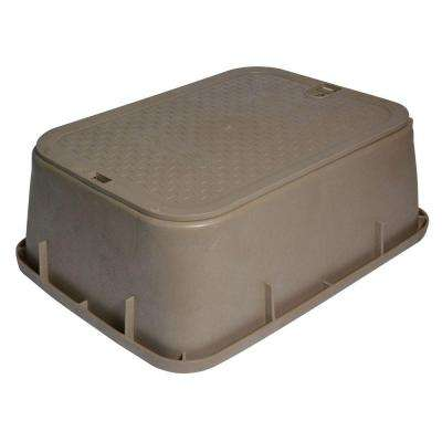 14 in. x 19 in. x 6 in. Standard Tapered Valve Box and Cover in Sand