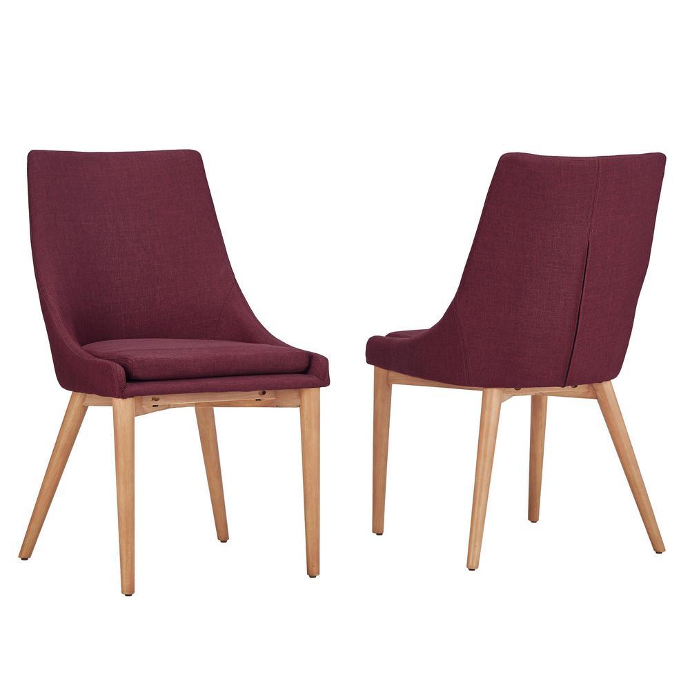Nobleton Merlot Linen Dining Chair (Set of 2)