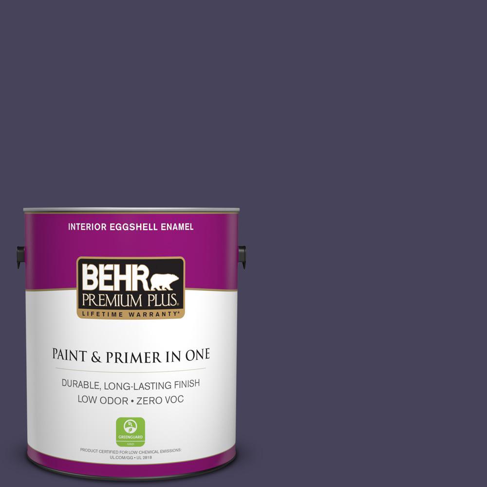 BEHR Premium Plus 1-gal. #S-H-640 Purple Blanket Zero VOC Eggshell Enamel Interior Paint