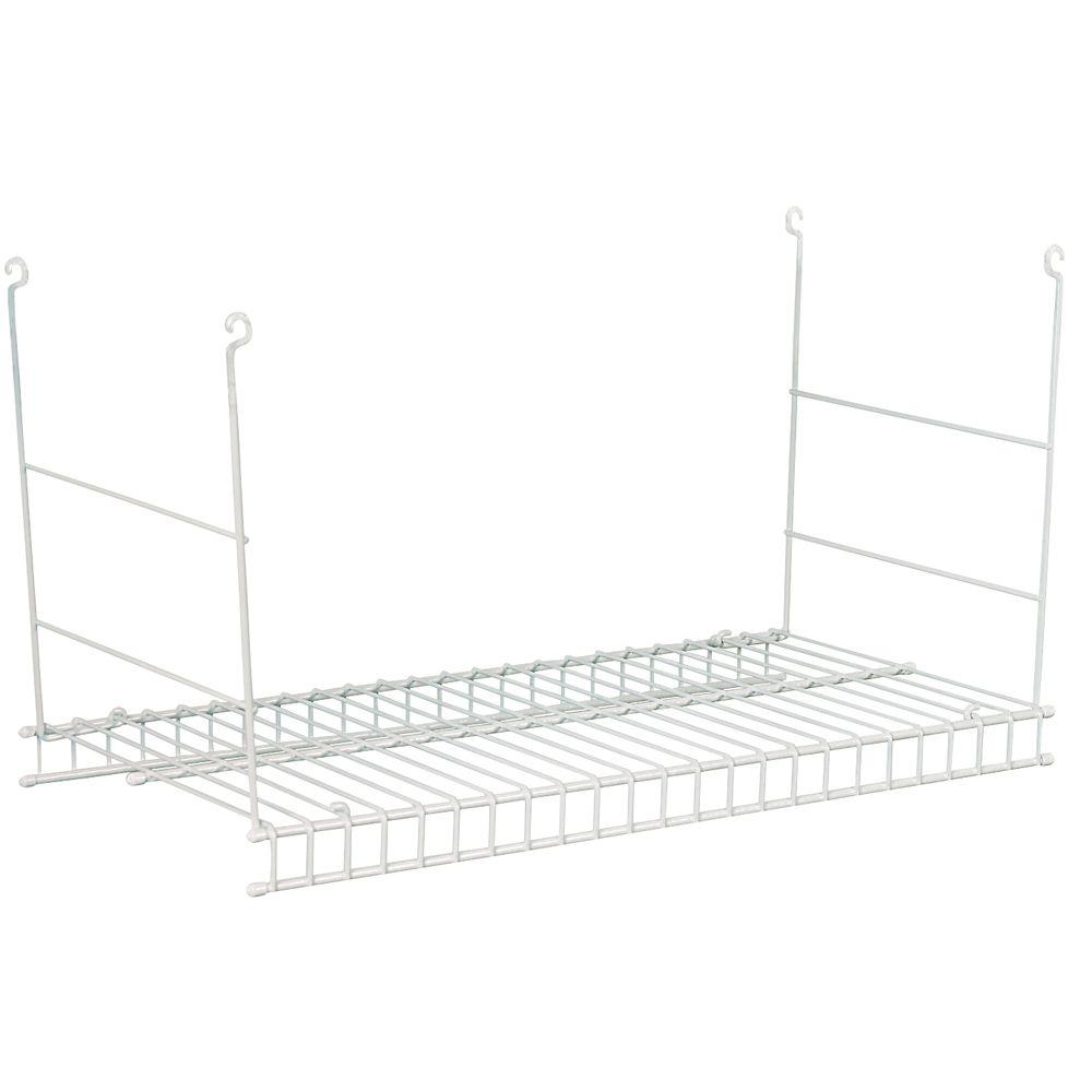 Closetmaid 24 in. Hanging Wire Shelf, White