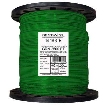 2,500 ft. 14/19 Green Stranded THHN Wire